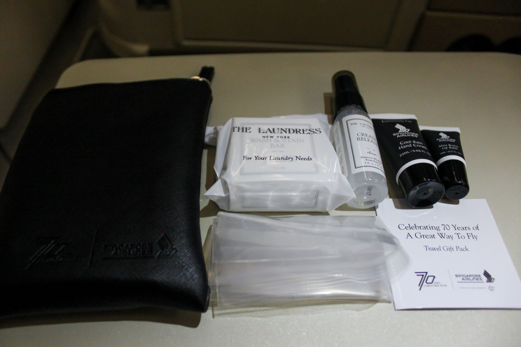 Singapore Airlines 70th Anniversary Amenity Kit