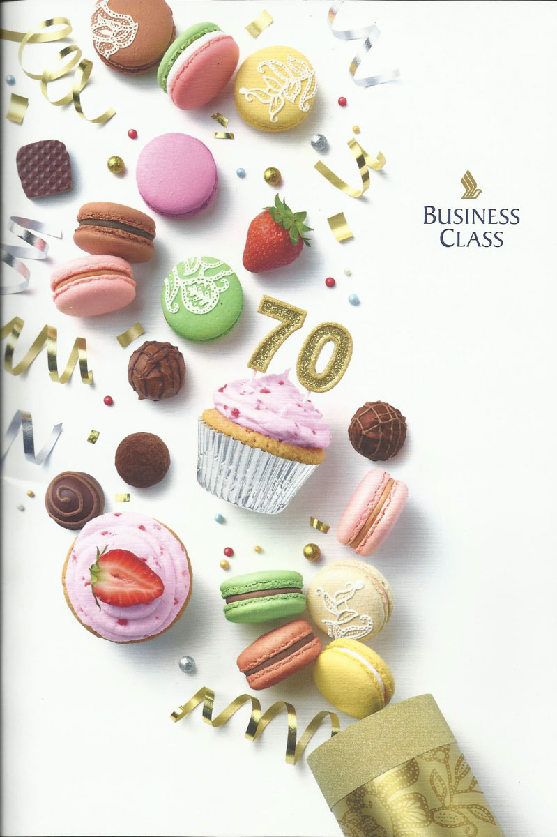 Singapore Airlines Business Class Menu Cover