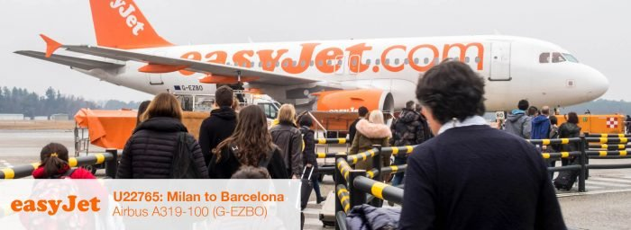 Flight Review: easyJet A319 Economy Class from Milan Malpensa to Barcelona El Prat