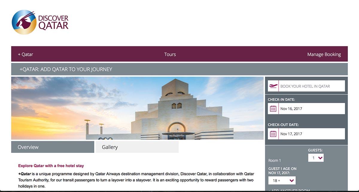 Discover Qatar +Qatar Free Hotel Program