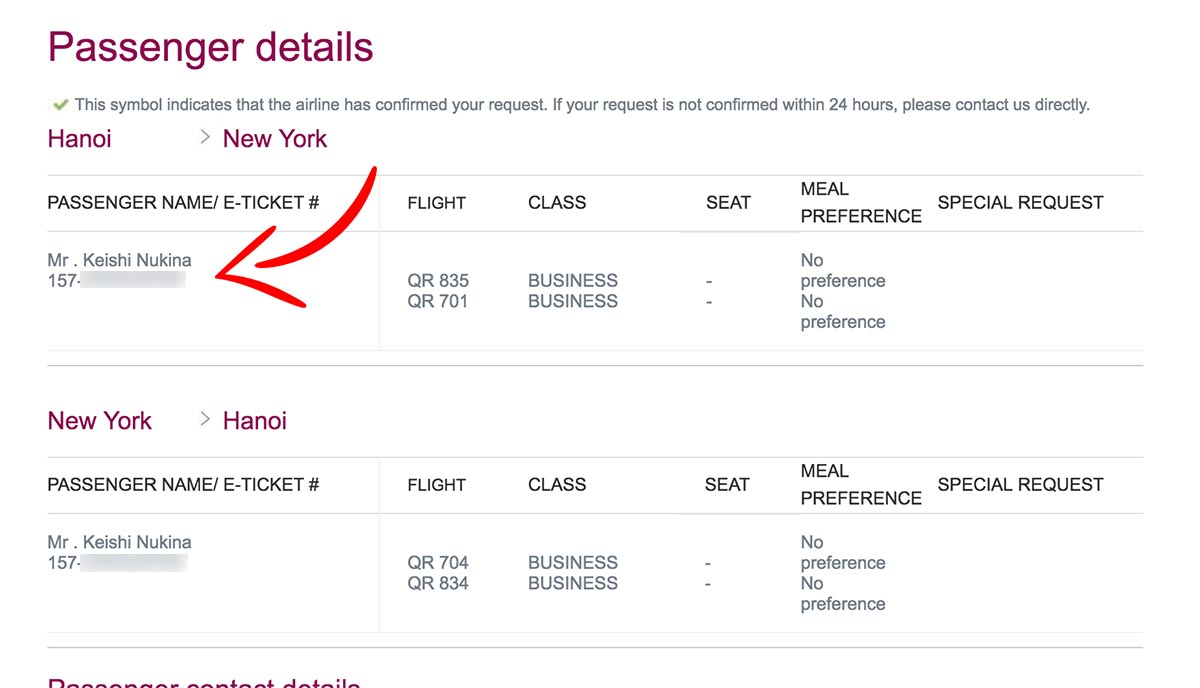 Finding Eticket Number on a Qatar Airways' Ticket