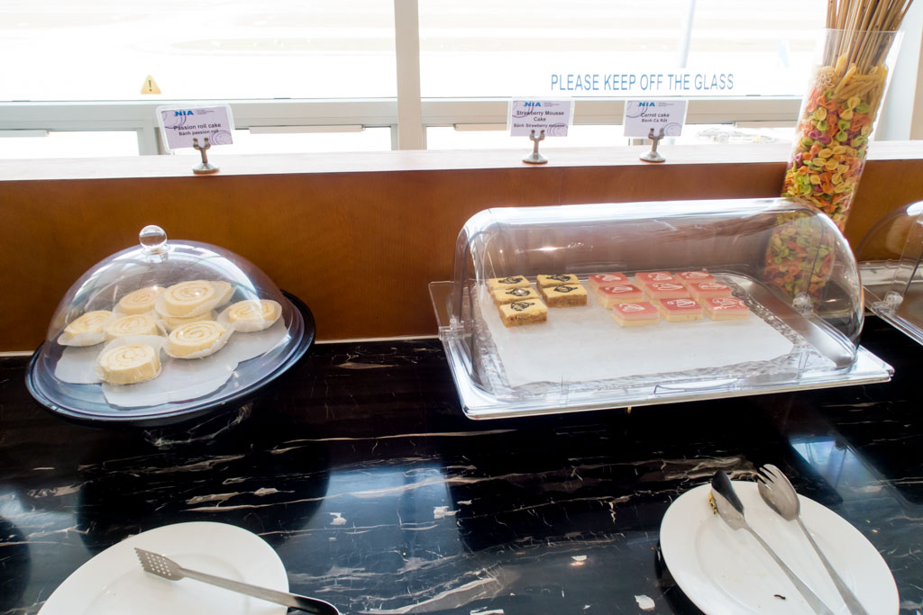 Desserts at Hanoi Airport Lounge