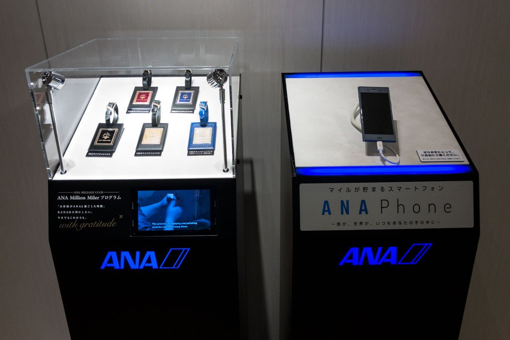 ANA Luggage Tags and Smartphone