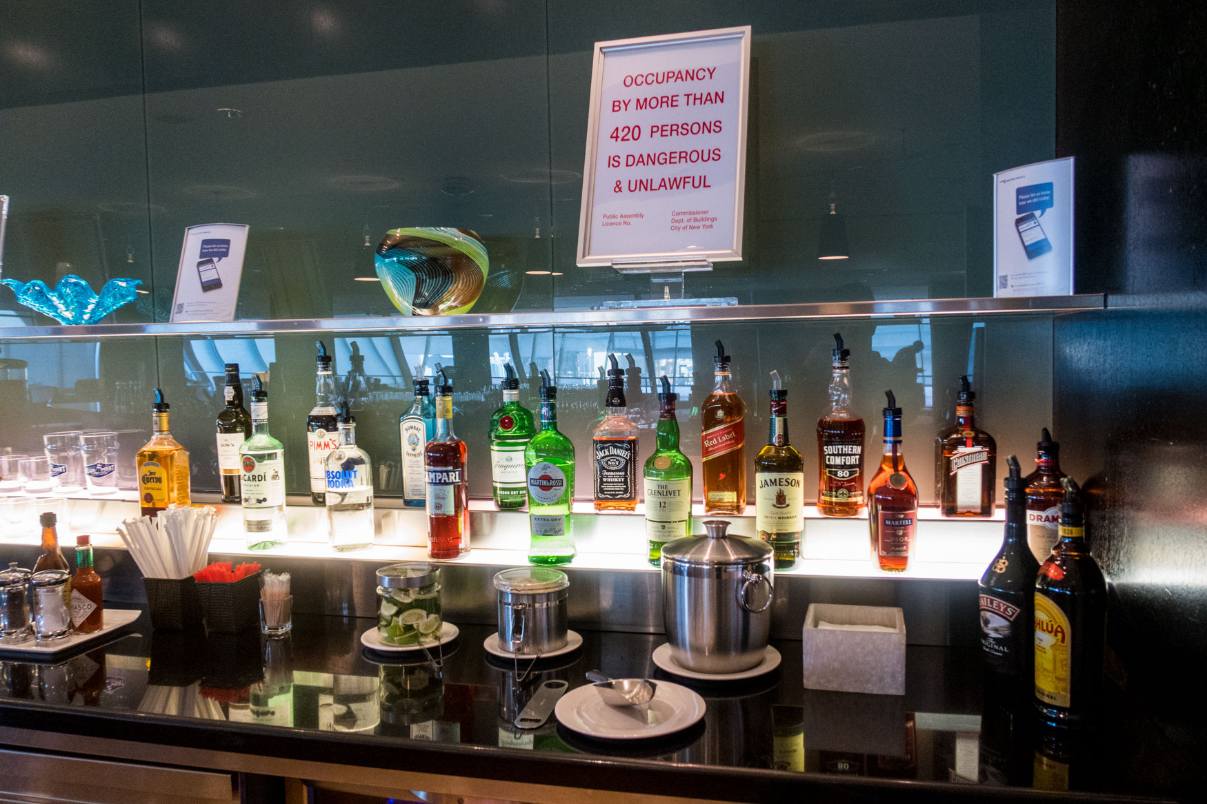 British Airways Galleries Lounge Alcohol