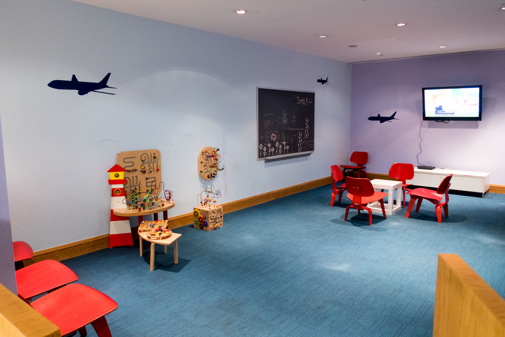 British Airways Lounge JFK Kids Space