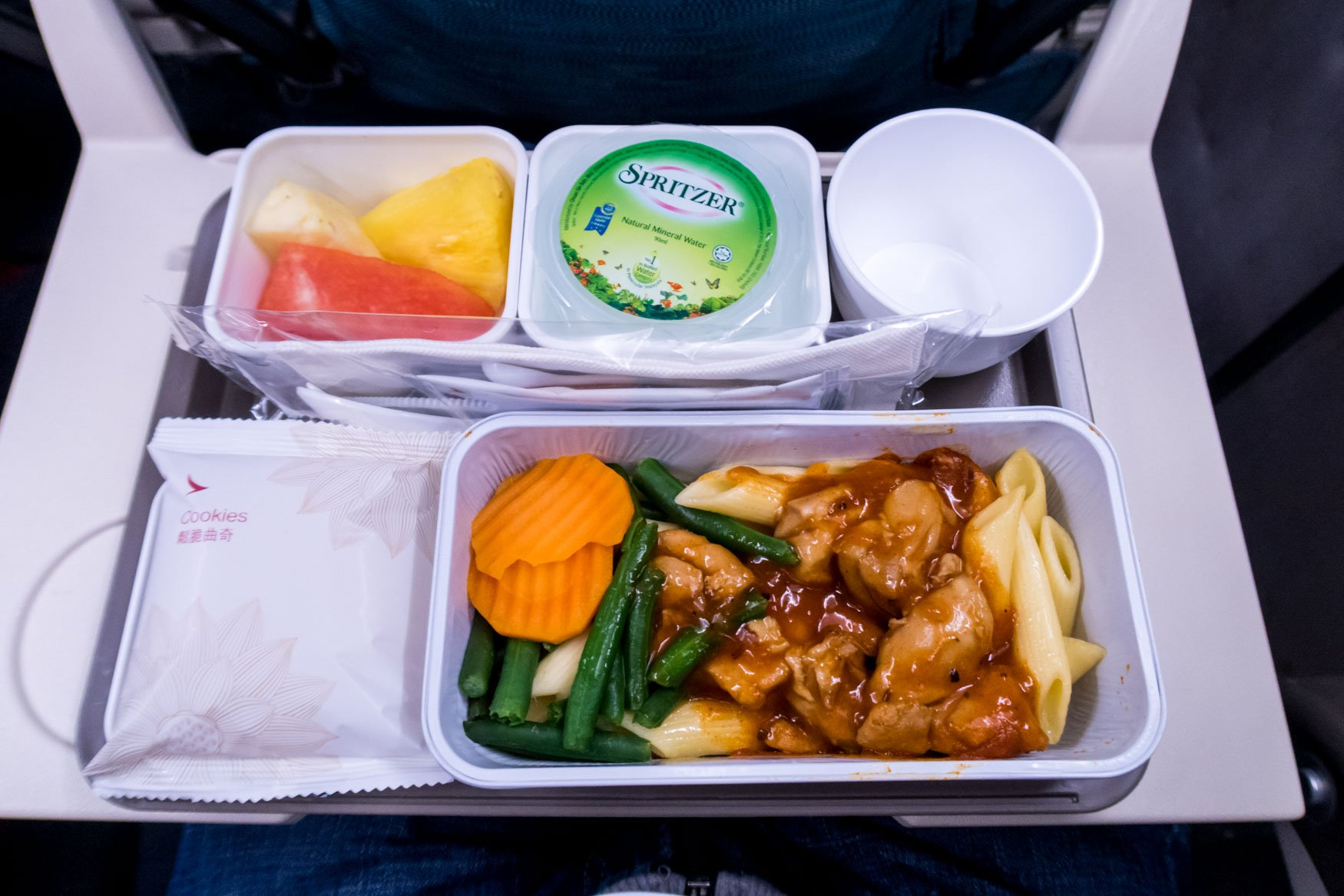 Cathay Dragon Economy Class Shorthaul Meal