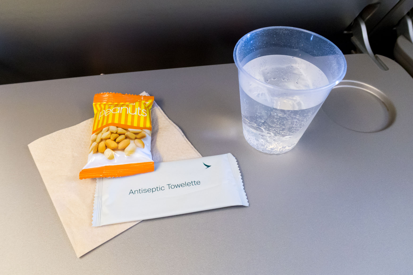 Peanuts and Drink Onboard Cathay Pacific Airways