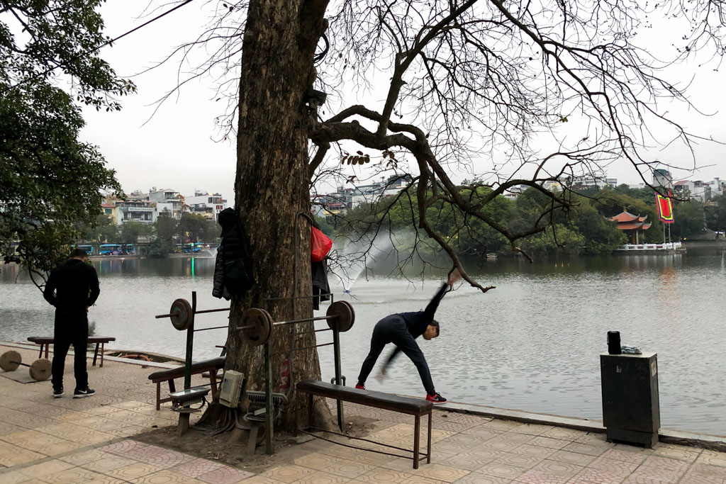 Exercise on the Edge of Hoam Kiem Lake