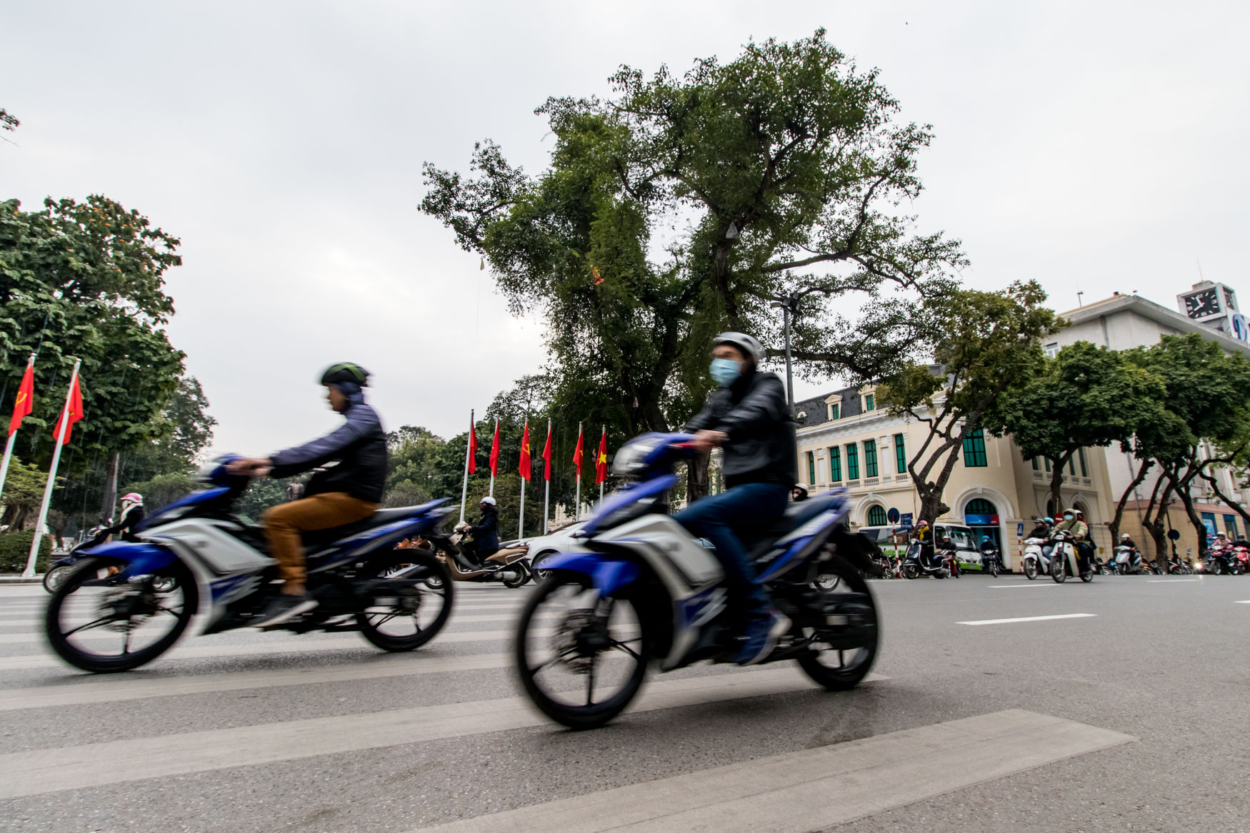 Scooter Traffic in Hanoi