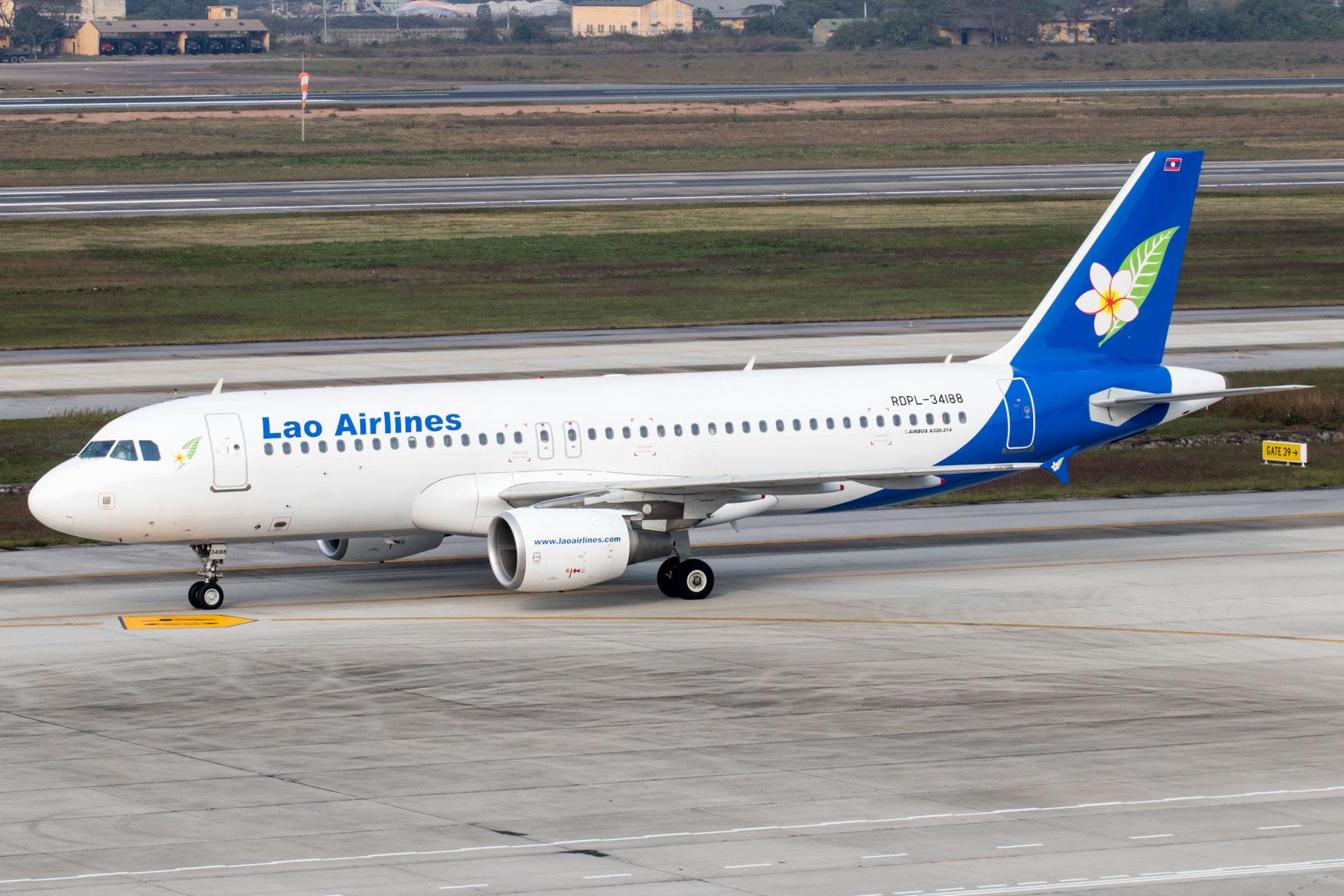 Lao Airlines A320 Vietnam Hanoi