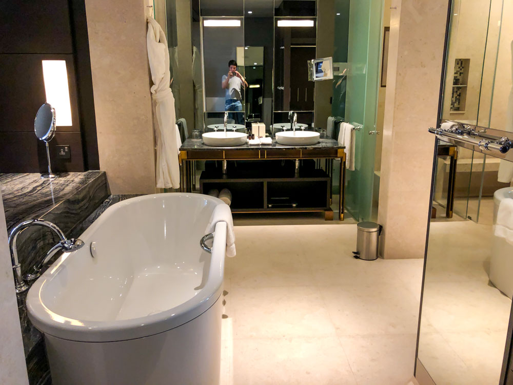 Bathroom at the Westin Doha