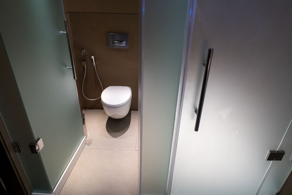 Qatar Airways Shower Room Toilet