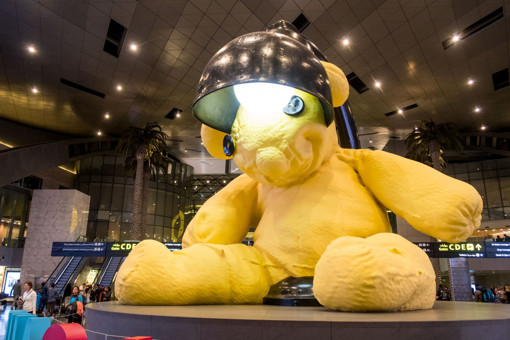 Doha Hamad International Airport Teddy Bear