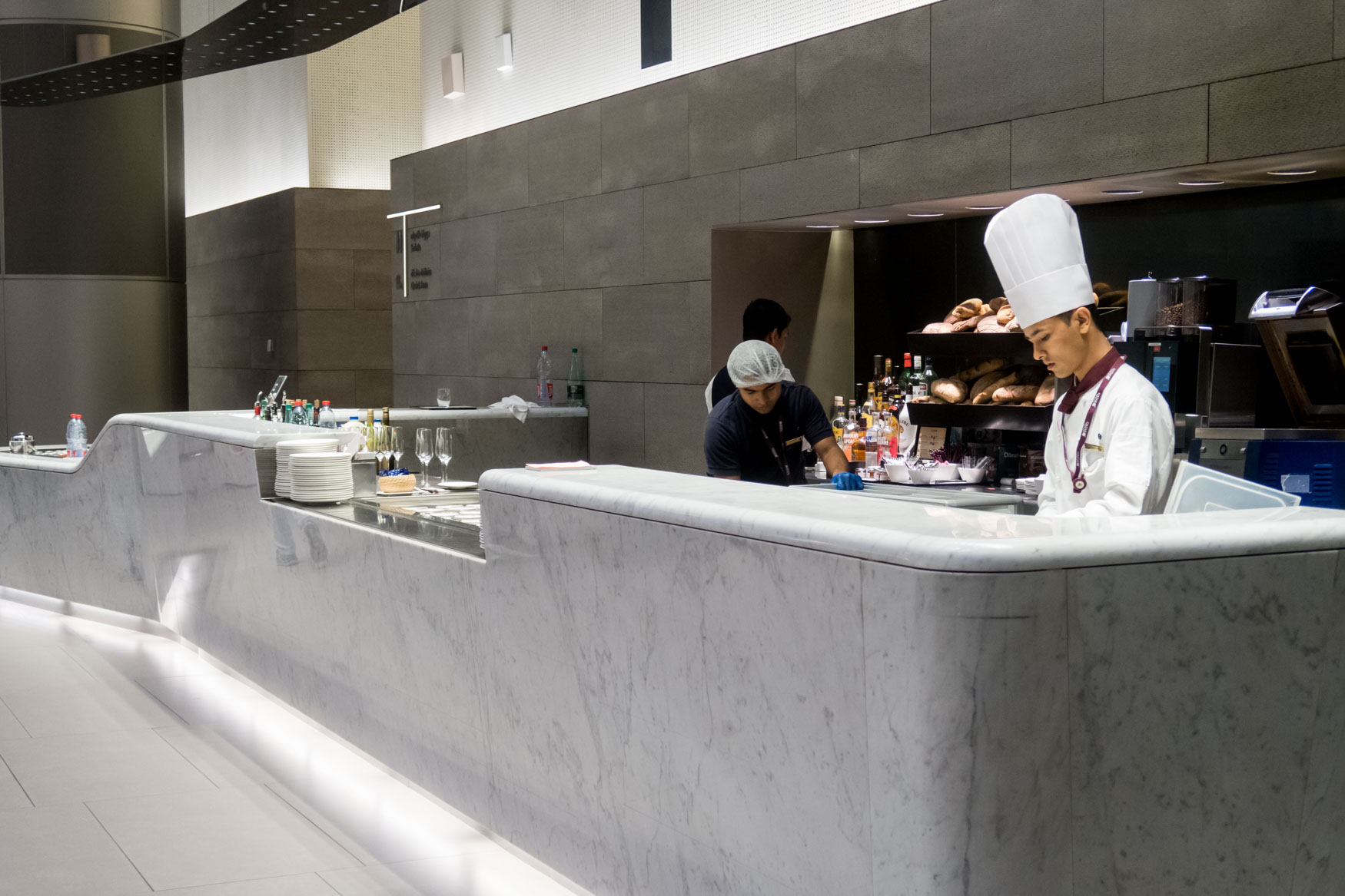 Qatar Airways Al Mourjan Lounge A La Carte Sandwiches