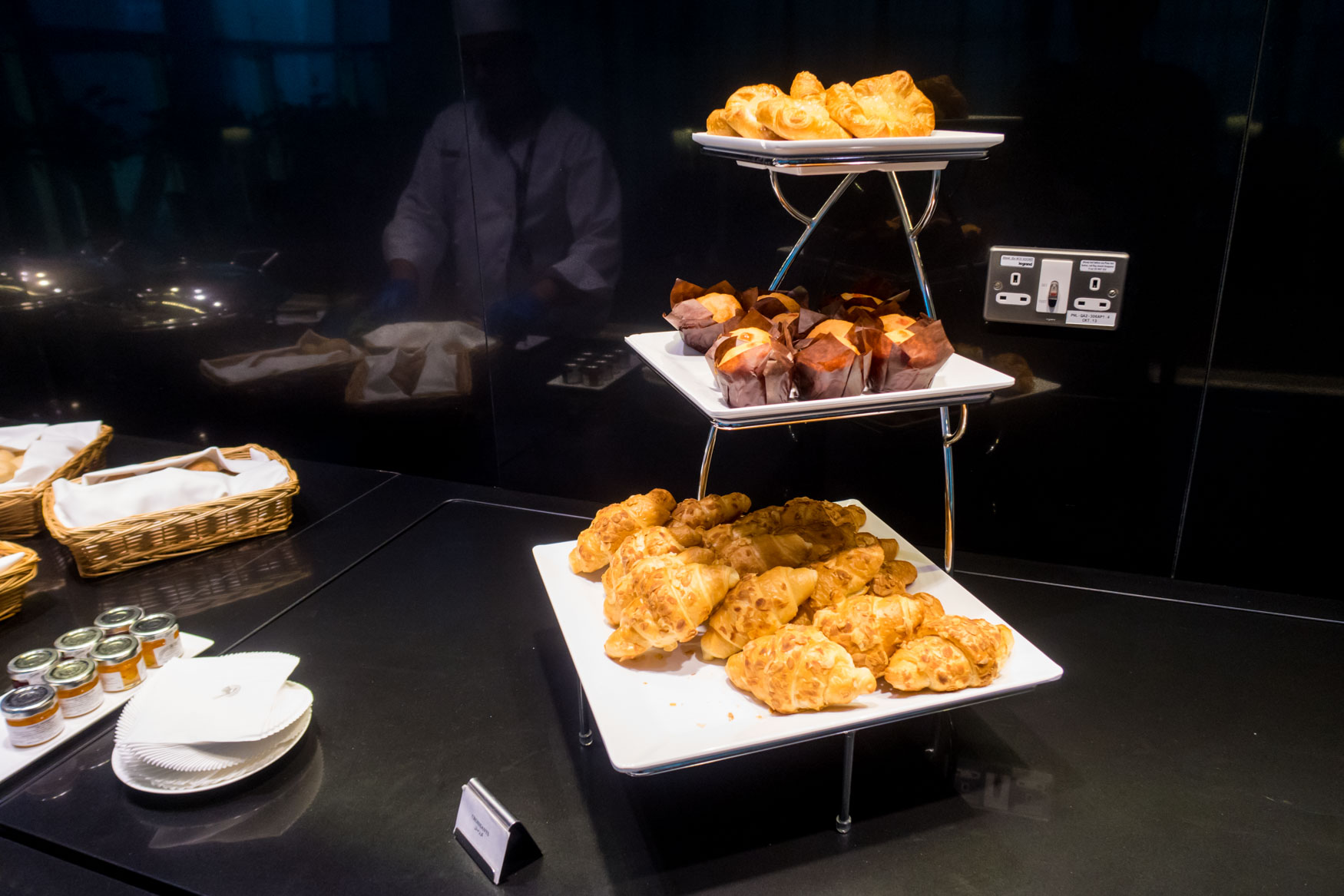 Qatar Airways Lounge Pastries