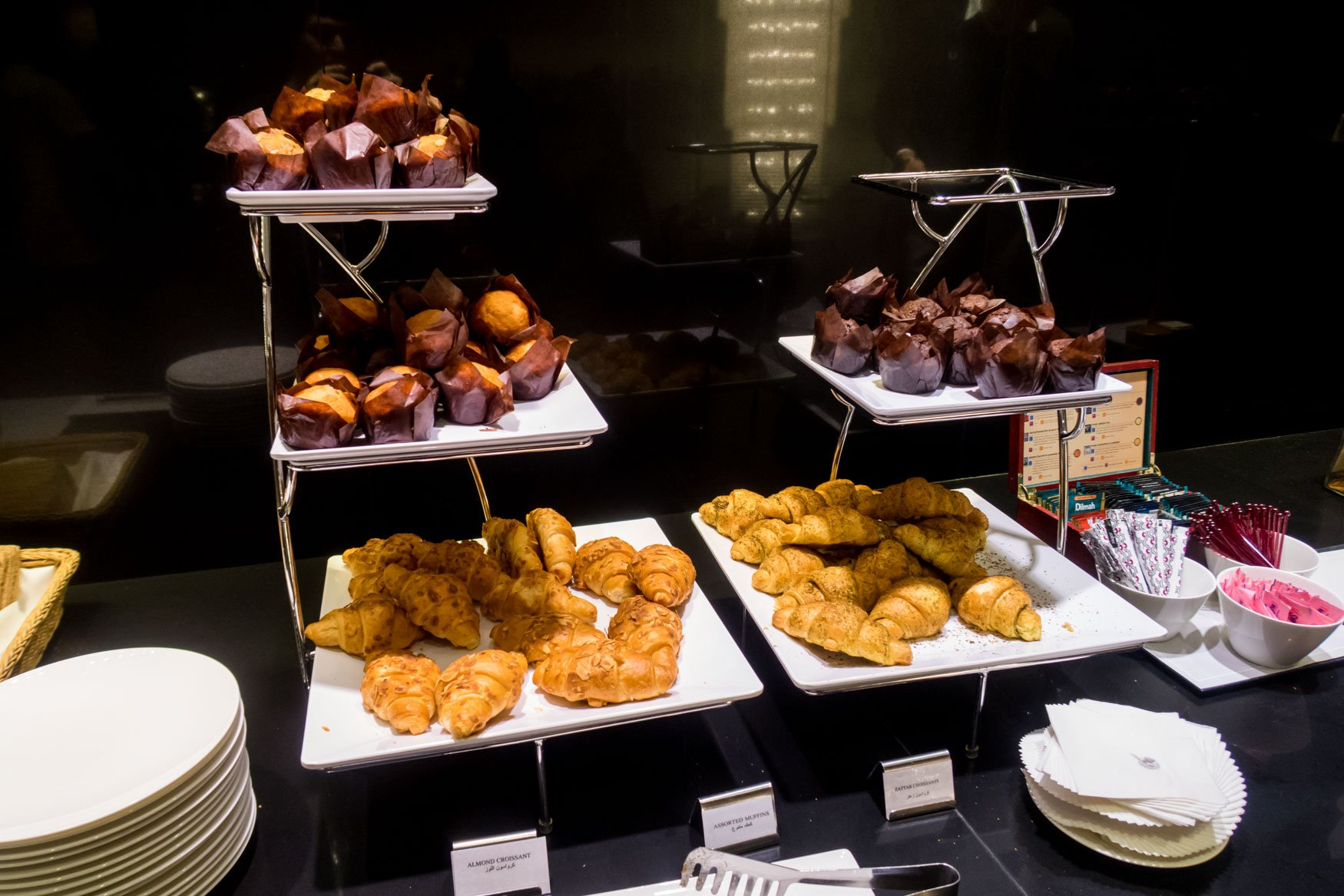 Breakfast Pastries in Qatar Airways Lounge