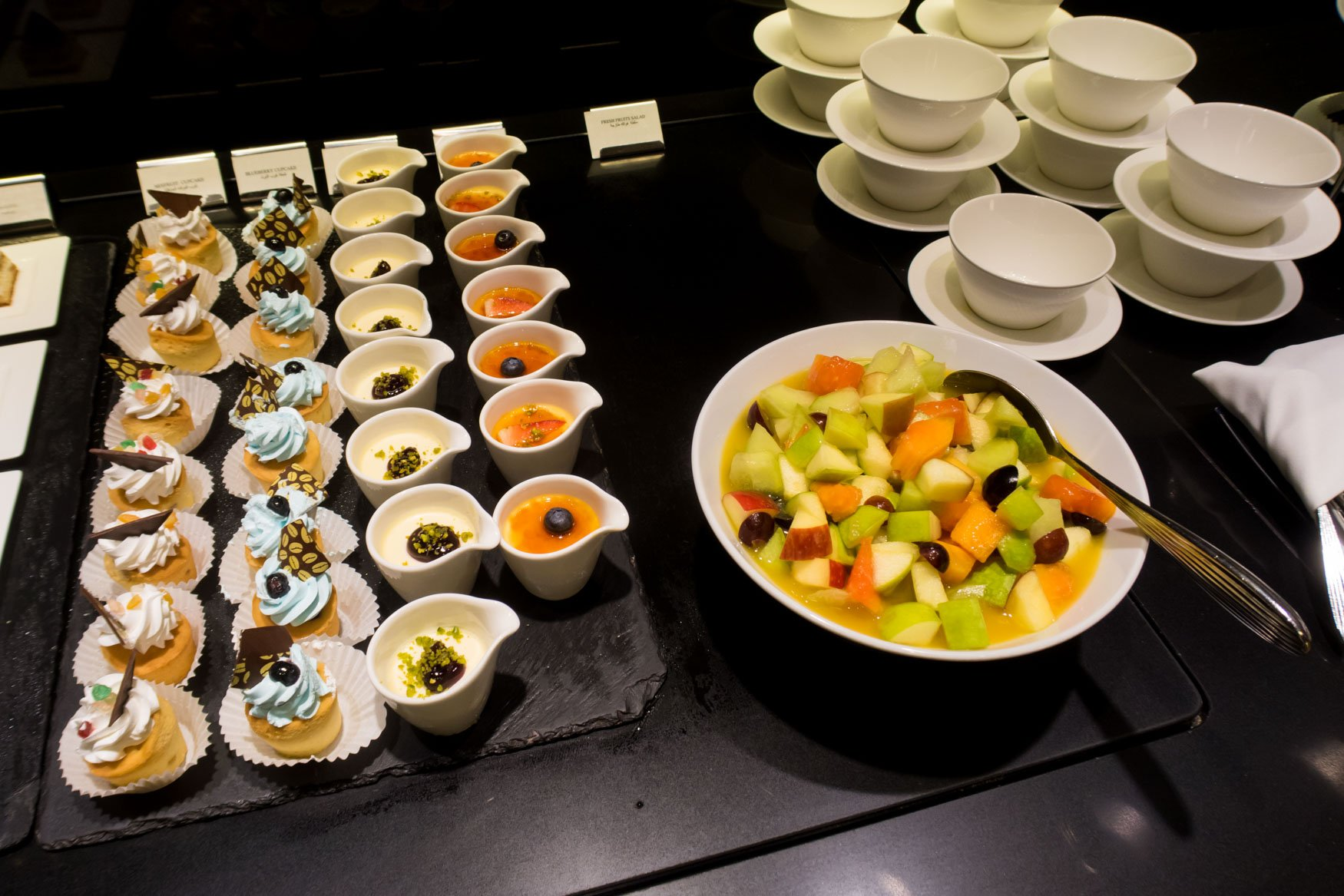 Fruit Salad and Desserts in Al Mourjan Lounge