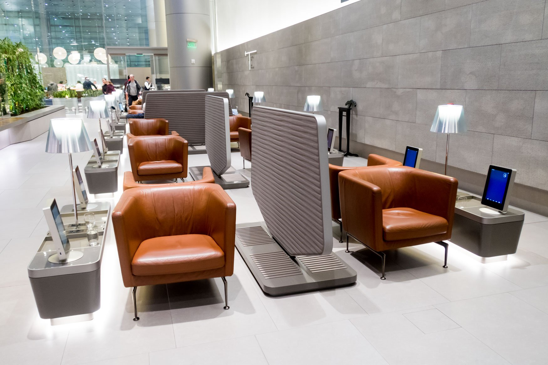 Qatar Airways Business Class Lounge Doha Review
