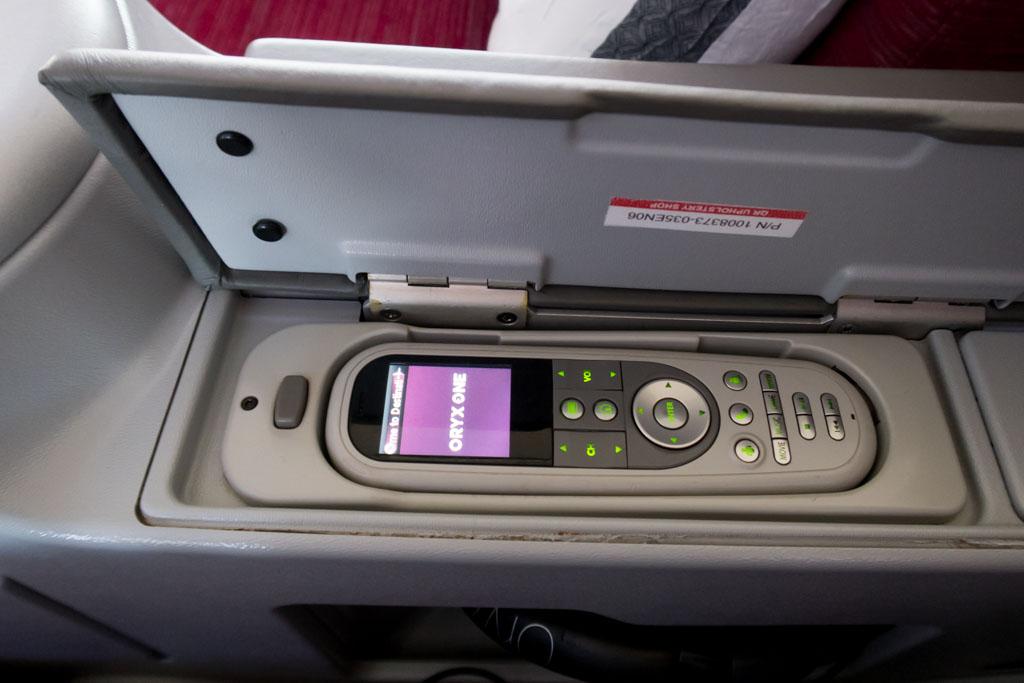 Qatar Airways IFE Remote Control