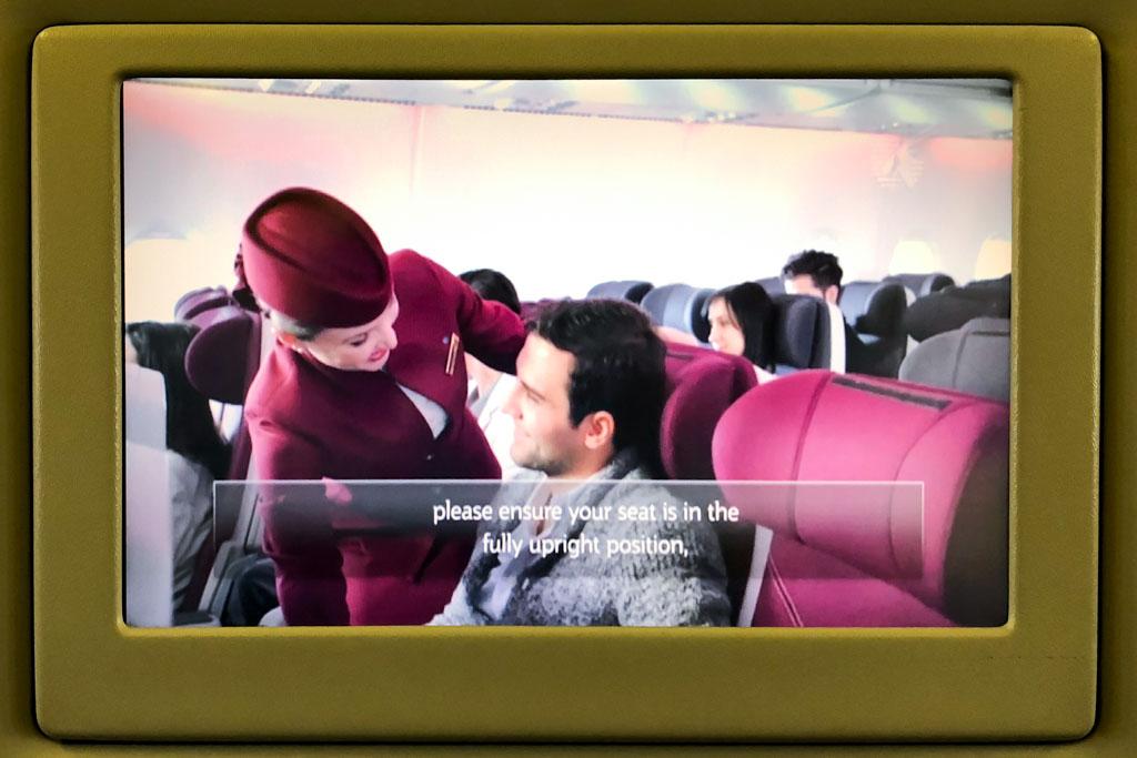 Qatar Airways Safety Demo