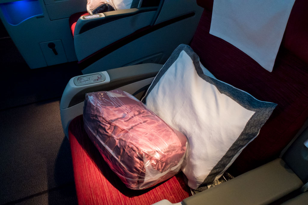 Qatar Airways Comforter and Pillow