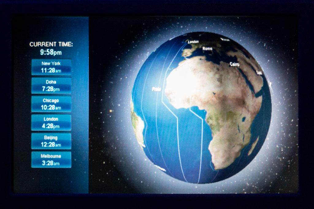 Qatar Airways IFE Map