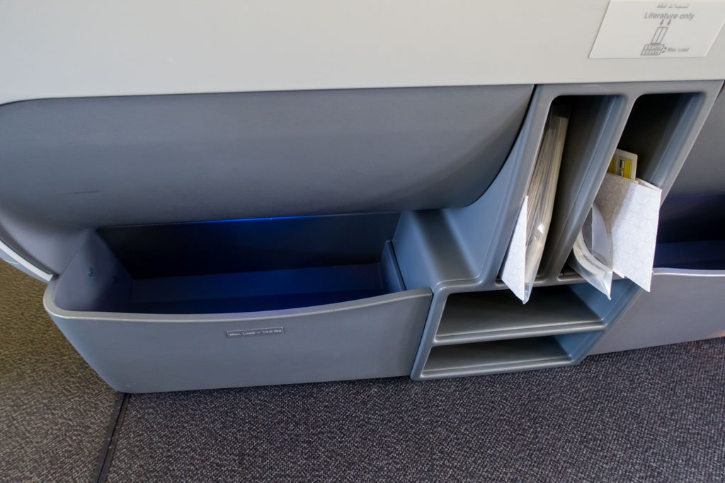 Storage Space Under the Seat in Front