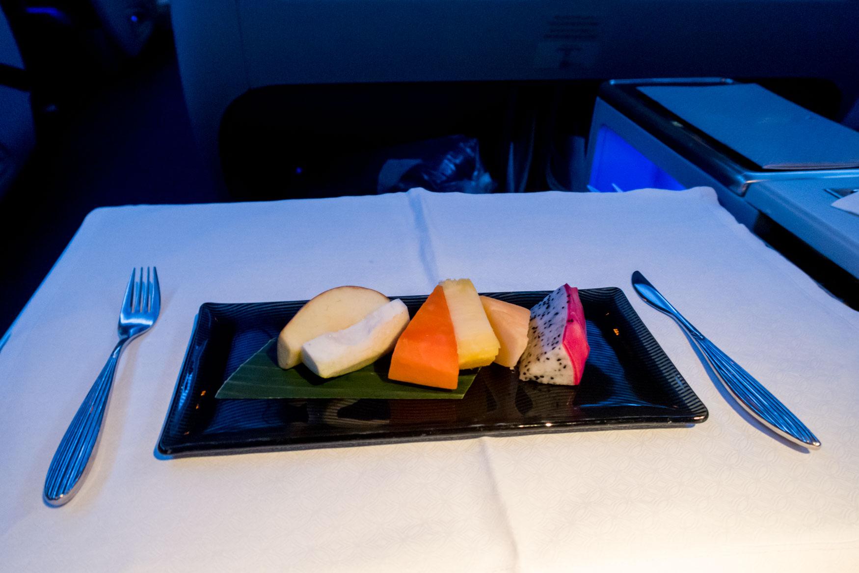 Fruit Plate Qatar Airways