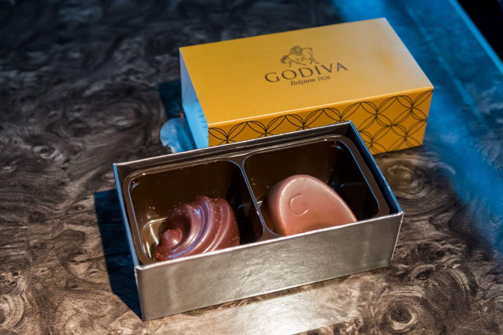 Godiva Chocolates Onboard Qatar Airways