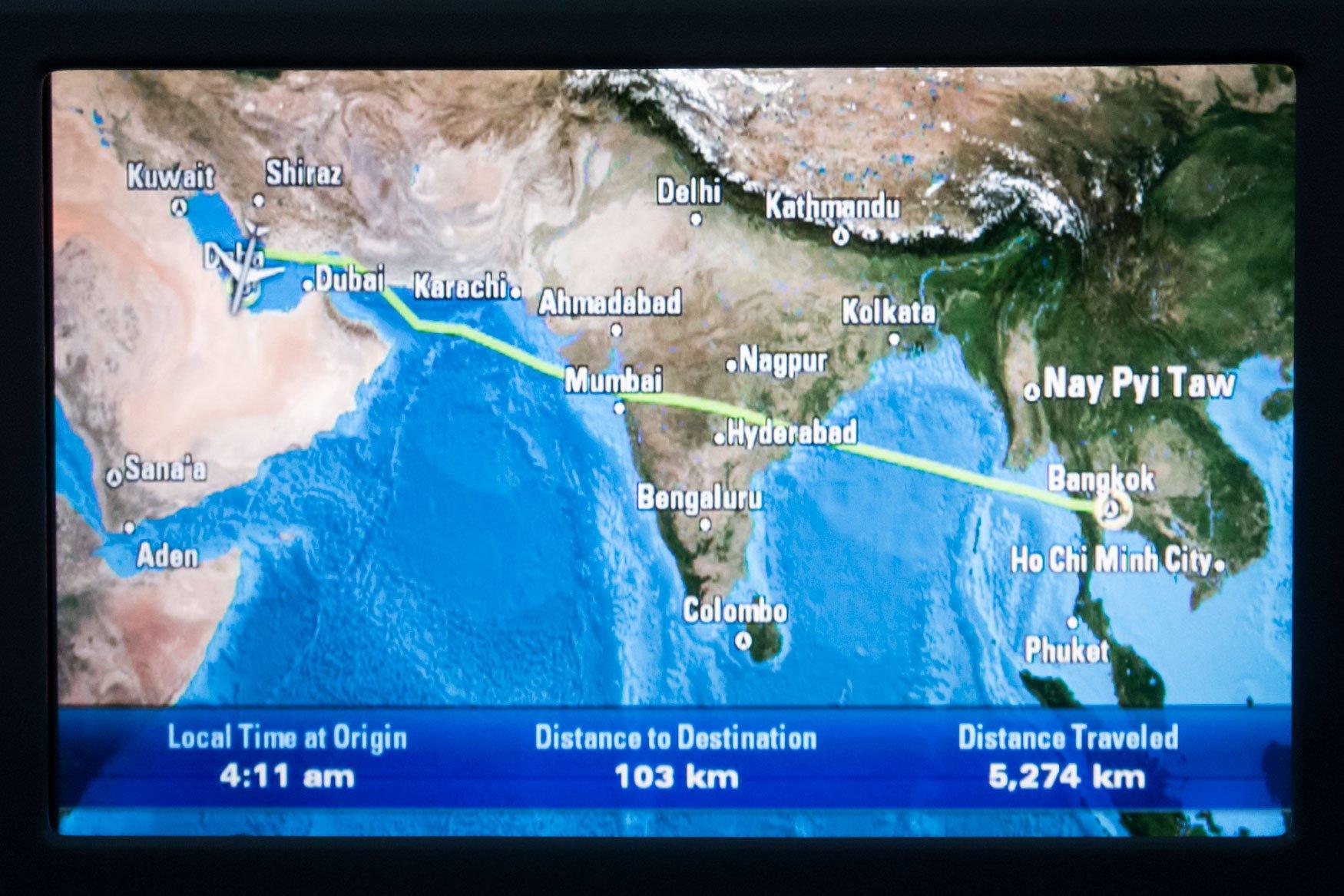 Approaching Qatar