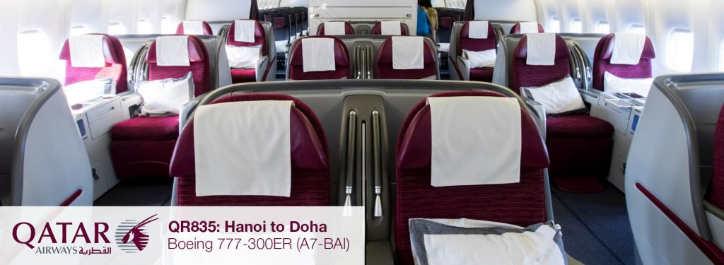 Flight Review: Qatar Airways 777-300ER Business Class from Hanoi to Doha via Bangkok