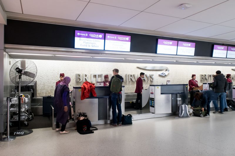 Qatar Airways Check-In at New York JFK