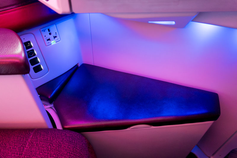Storage Compartment Qatar Airways A350 Business Class