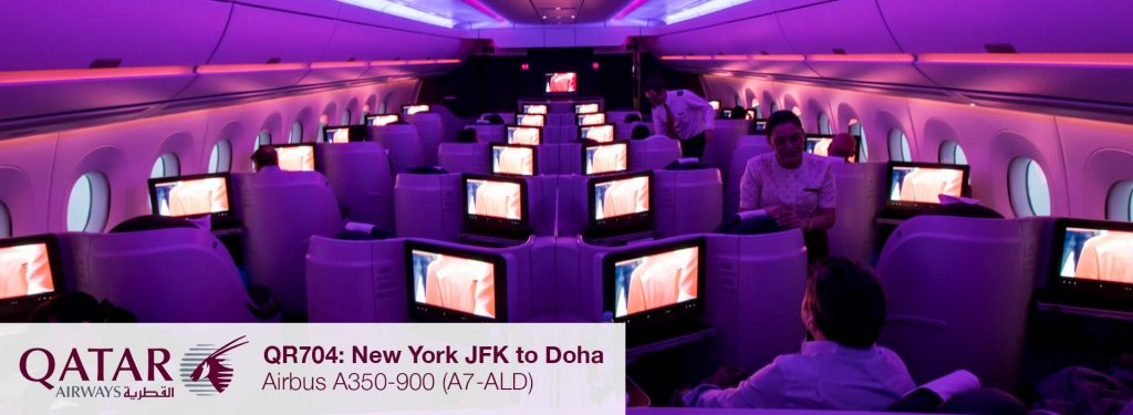 Flight Review: Qatar Airways A350-900 Business Class from New York JFK to Doha