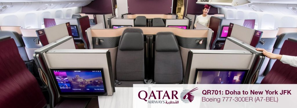 Flight Review: Qatar Airways 777-300ER QSuites Business Class from Doha to New York JFK