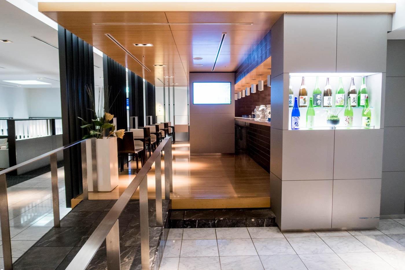 Sake Bar in ANA Lounge Tokyo Narita