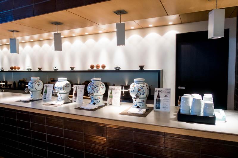 ANA Lounge Sake Selection