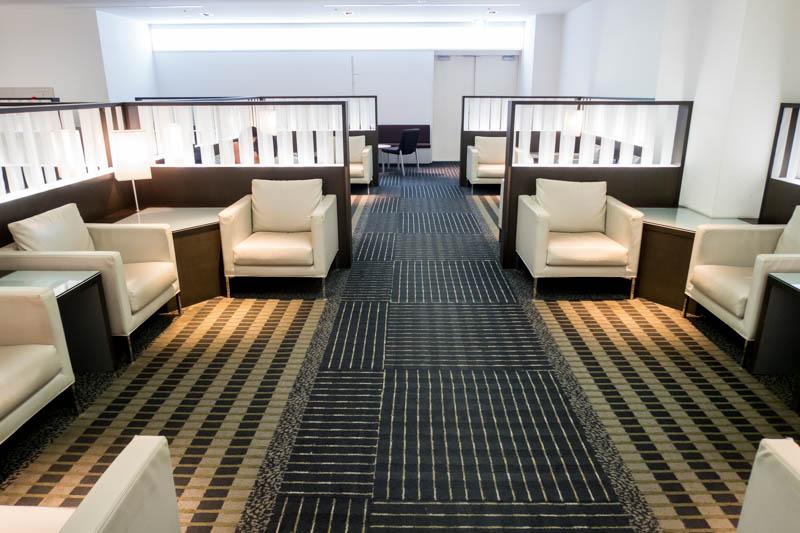 Seating in ANA Lounge at Narita