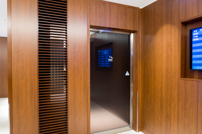 JAL Sakura Lounge New Chitose Smoking Room