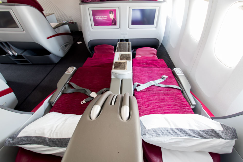 Seats in Qatar Airways' Business Class