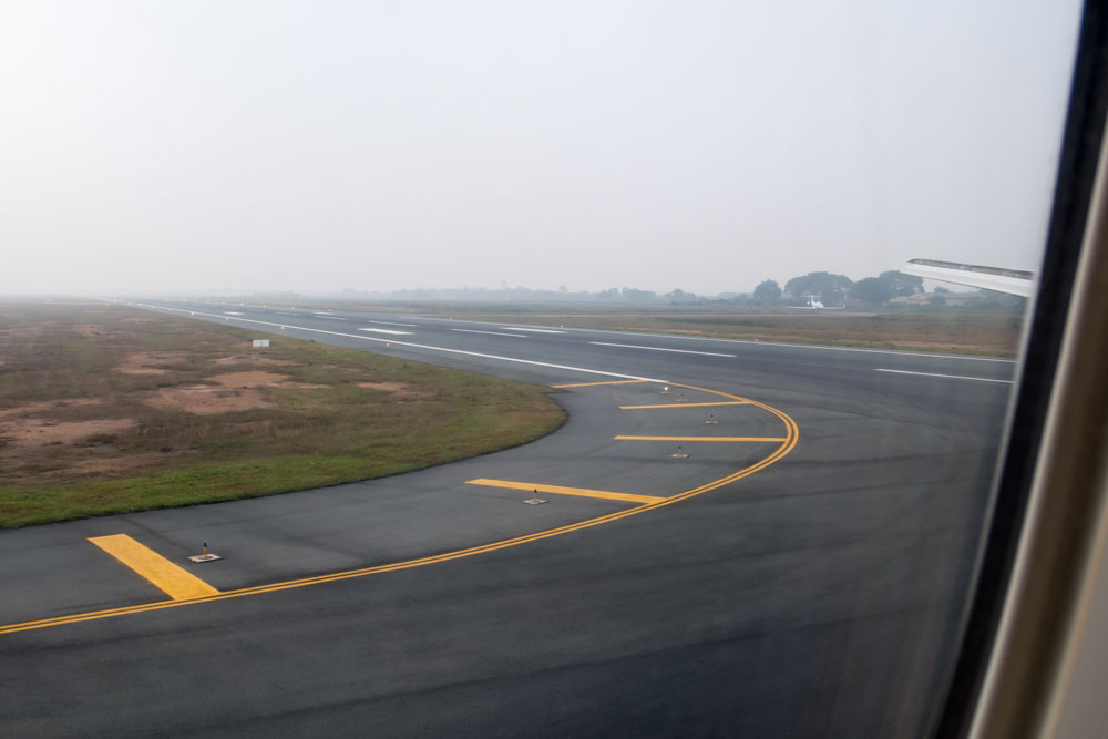 Taxiing to Terminal at Noi Bai