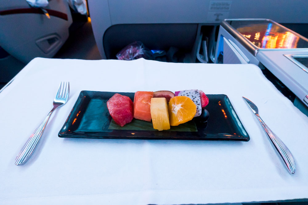 Fruit Plate on Qatar Airways