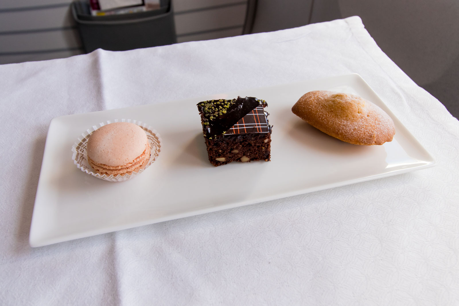 Qatar Airways Business Class Desserts