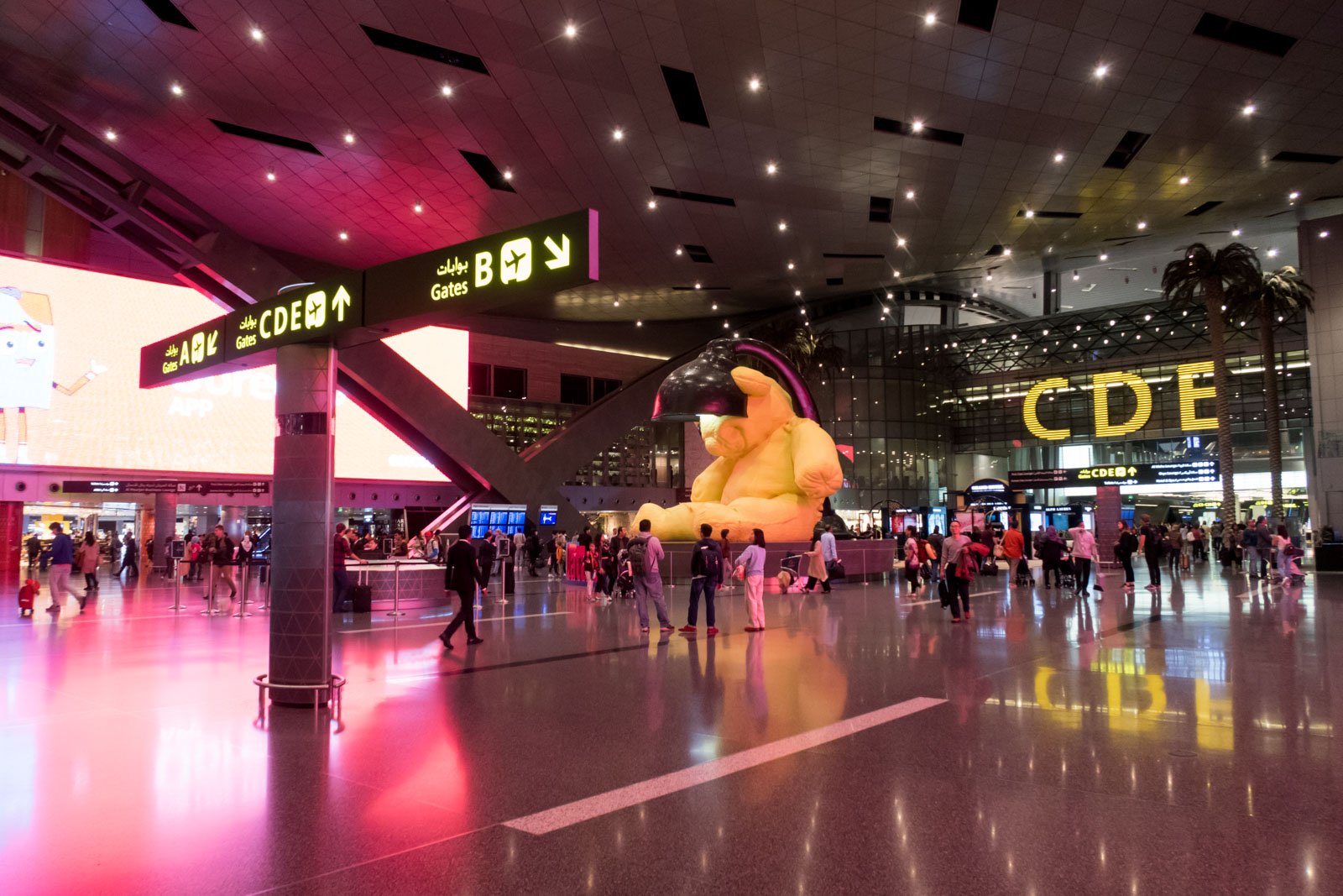 Doha Hamad Airport Teddy Bear
