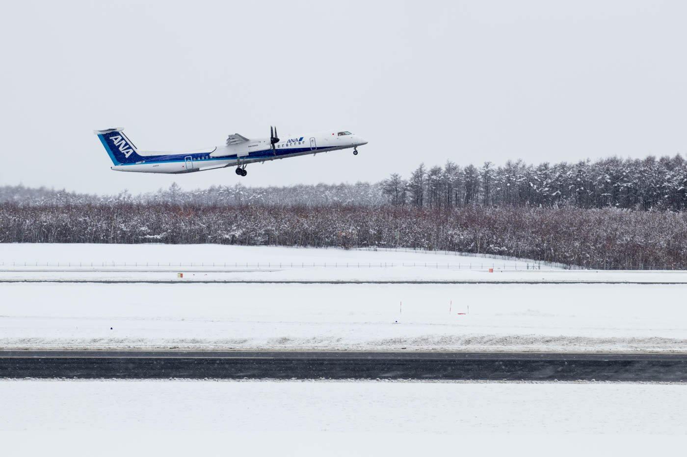 ANA DHC-8-400 Departing CTS