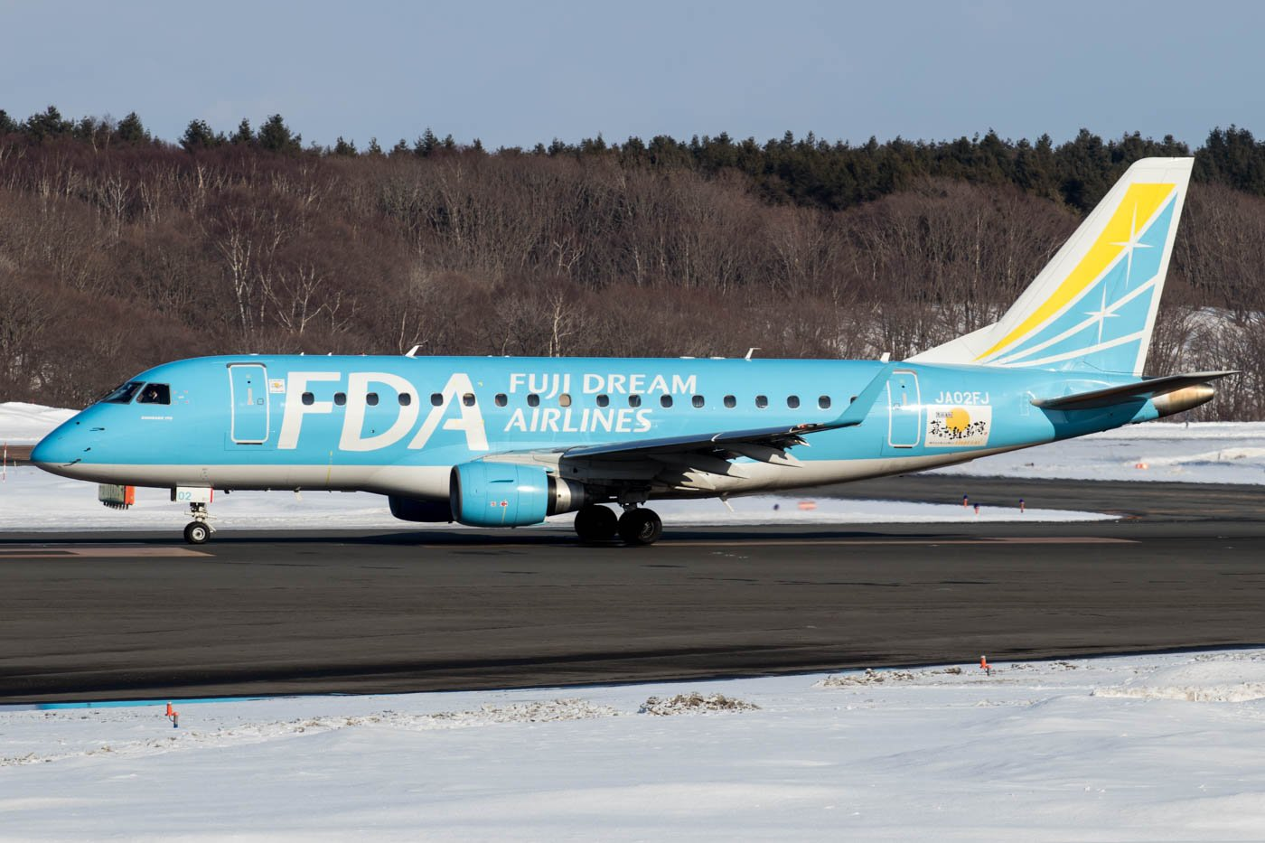 Fuji Dream Airlines ERJ-170 at Sapporo Airport