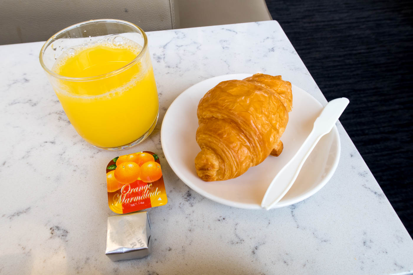 My Breakfast at the United Lounge in Tokyo