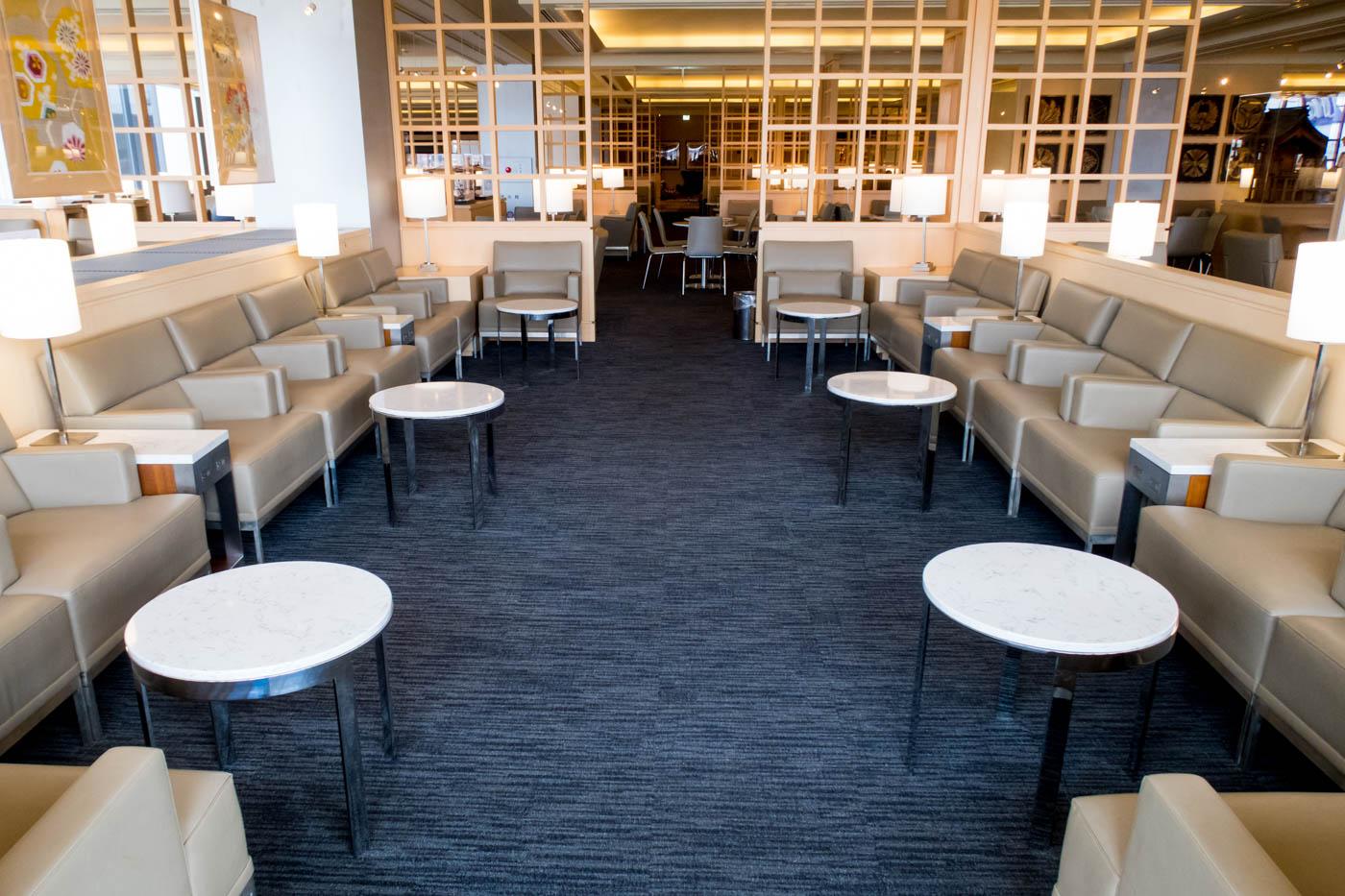 United Club Seating in Tokyo Narita