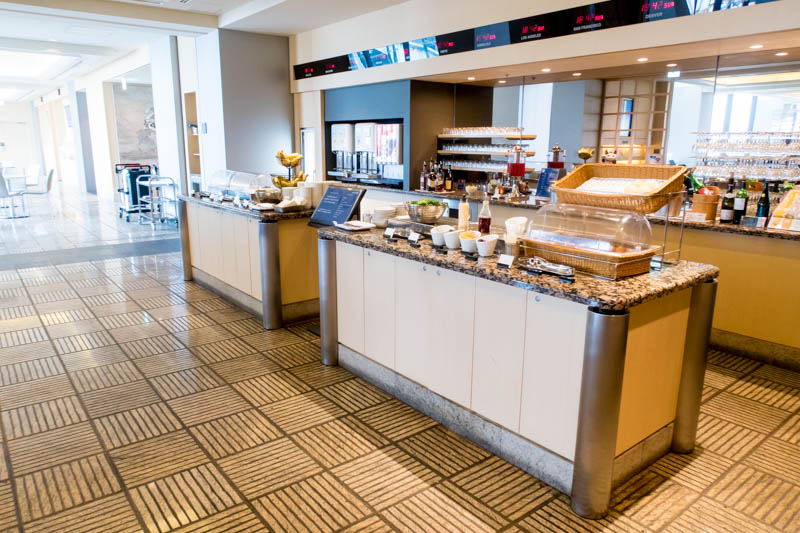 Buffet in United Lounge at NRT
