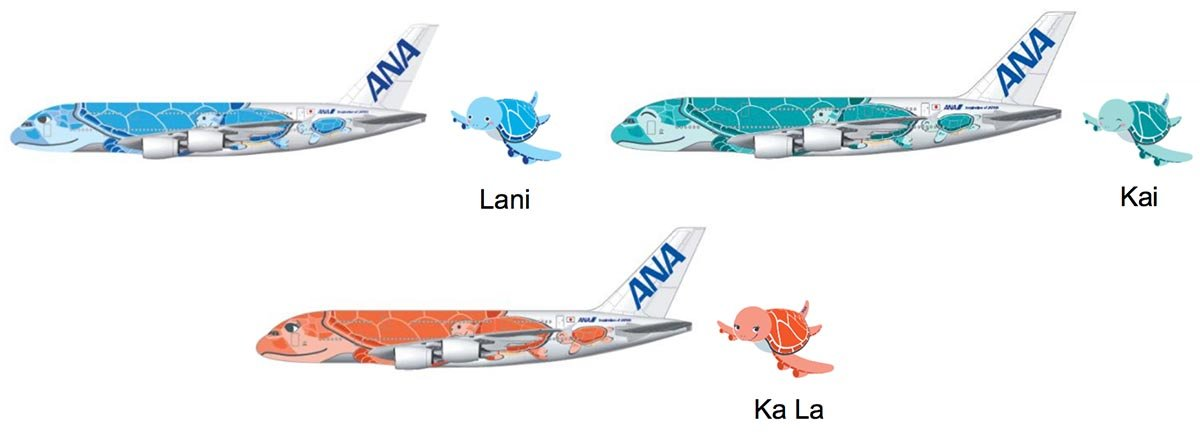 ANA Flying Honu A380s